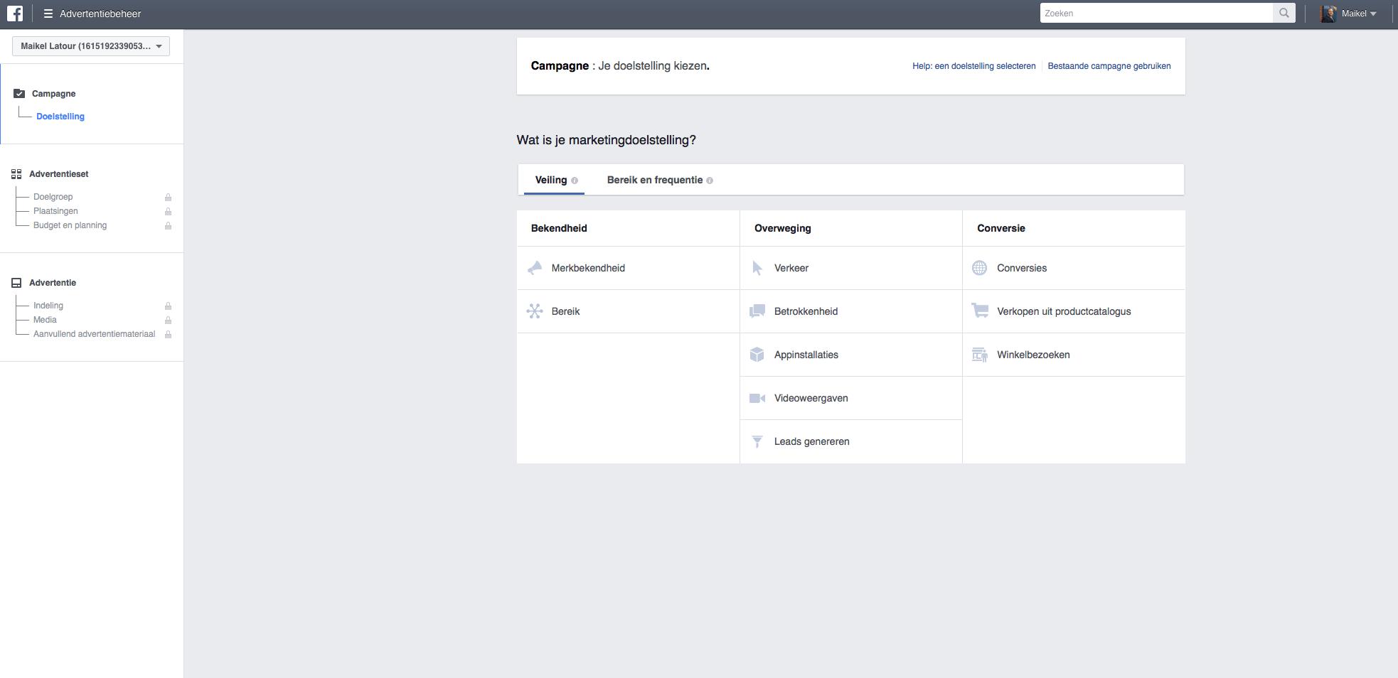 facebook-advertentie-doelstelling